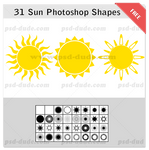 Sun Photoshop Shapes