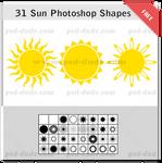 Sun Photoshop Shapes