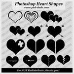 14 Heart Custom Shape Set by PsdDude