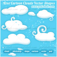 Free Cloud Custom Shapes by PsdDude