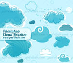 Cartoon Cloud Photoshop Brushes