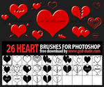 26 Heart Brushes