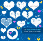 Heart Doodle Brushes by PsdDude