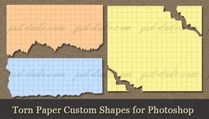 Torn Paper Custom Shapes