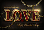 Love in Chains Photoshop Text Tutorial
