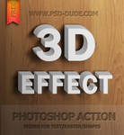 3D Text Photoshop Action