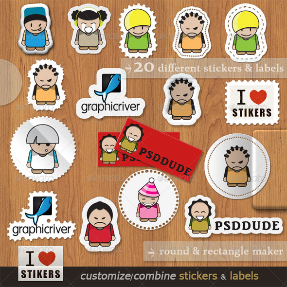 Sticker and label photoshop maker by psddude
