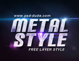 Metal Style PSD - FREE by PsdDude