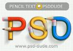 Pencil Text Effect Tutorial