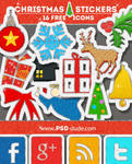 Christmas Glitter Icons Free Set