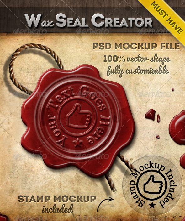 Wax Stamp Seal Photoshop Creator by PsdDude on DeviantArt