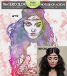 Watercolor Photoshop FREE Action