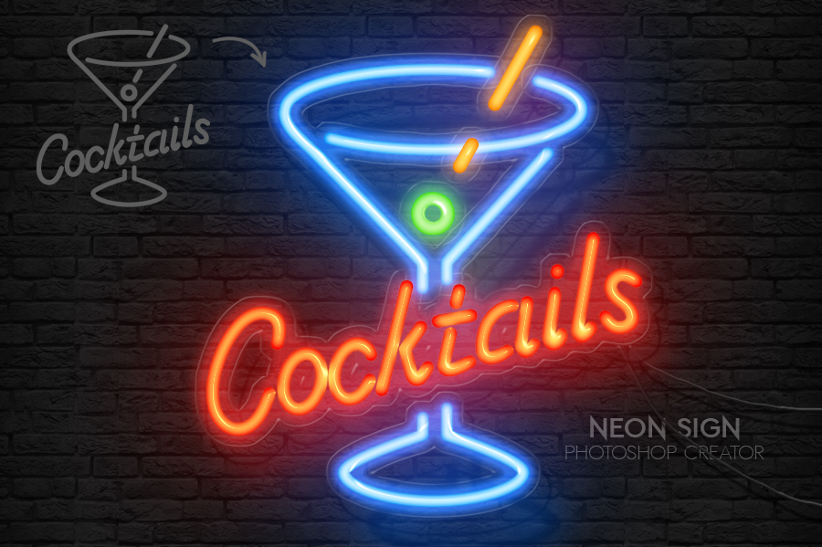 Neon Sign Photoshop Action by PsdDude on DeviantArt