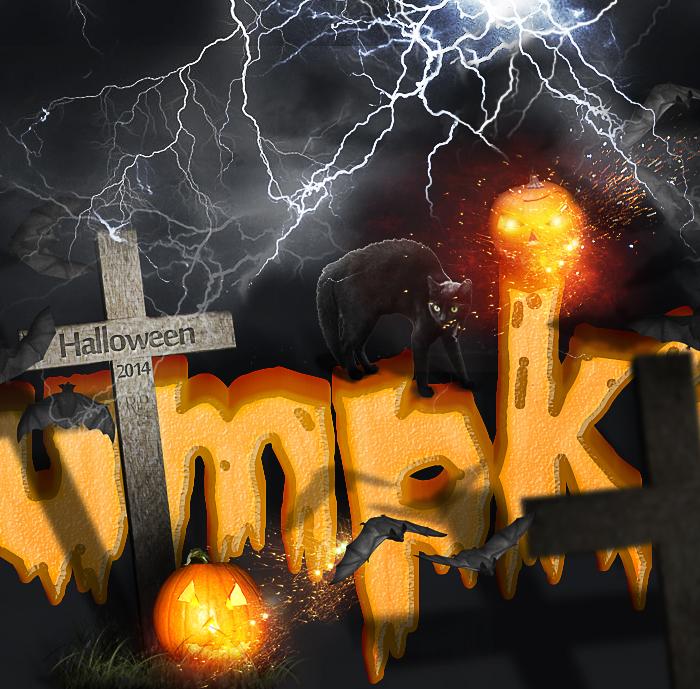 Spooky Halloween Pumpkin Text Photoshop Tutorial by PsdDude
