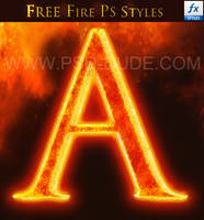 Free Fire And Lava Photoshop Style Mockup by PsdDude