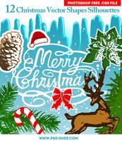 Free Christmas Custom Shapes Silhouettes by PsdDude