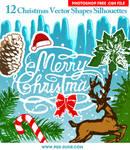 Free Christmas Custom Shapes Silhouettes