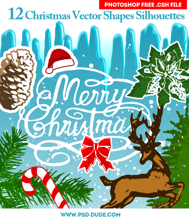 Free Christmas Custom Shapes Silhouettes by PsdDude