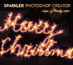 Sparklers Fireworks Writing Photoshop Action