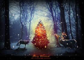 Magic Christmas Tree Photoshop Tutorial by PsdDude