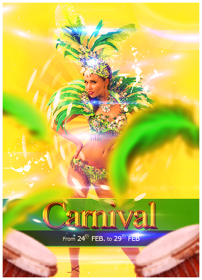 Rio Carnival Party Flyer Photoshop Tutorial by PsdDude