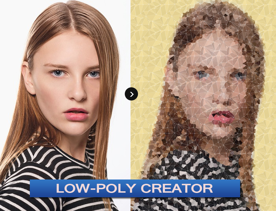 Low-Poly Photoshop Generator by PsdDude