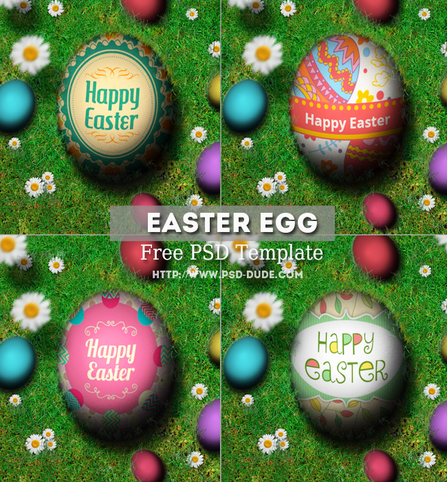Easter Egg PSD Free Template by PsdDude
