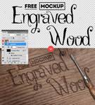 Carved Wood PSD FREE Mockup