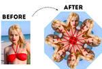 Kaleidoscope Photoshop Action with Animation