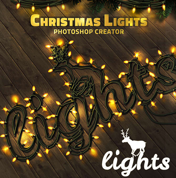 Christmas Lights Photoshop Creator by PsdDude