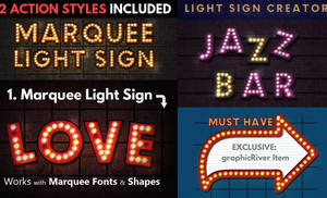 Marquee Lights and Showtime Sign Photoshop Creator