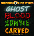 Free Halloween Text Styles for Photoshop