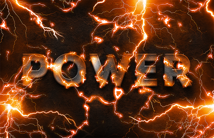 Electric Power Text Effect Photoshop Tutorial by PsdDude