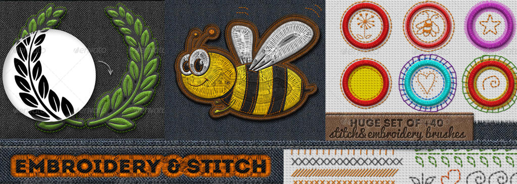 Embroidery Sewing And Stitch Photoshop Action By Psddude On Deviantart