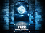 Night Moon Premade Background Free