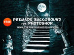 Free Premade Night Horror Background for Photoshop