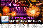 Fireworks and New Year Brushes for Photoshop