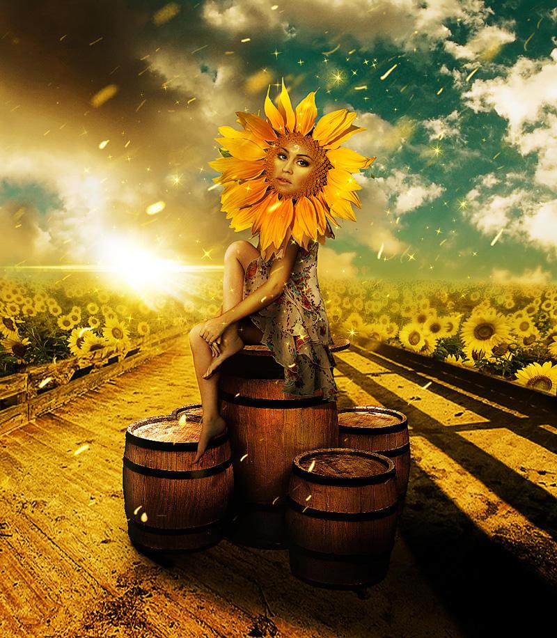 The Sunflower Princess by PsdDude