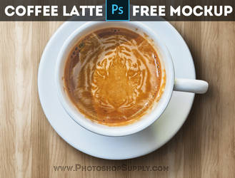FREE Coffee Latte Mockup by PsdDude
