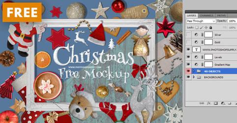 FREE Christmas Mockup by PsdDude