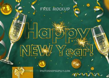 New Year FREE Mockup by PsdDude