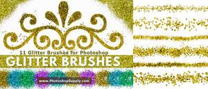 FREE Glitter Brushes by PhotoshopSupply