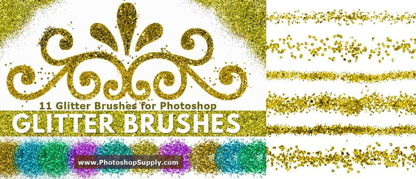 FREE Glitter Brushes by PhotoshopSupply by PsdDude