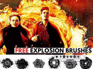 Explosion Brushes by PhotoshopSupply