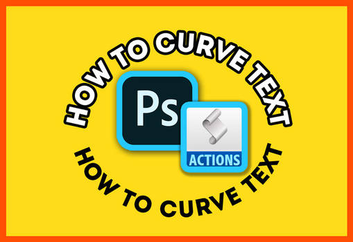 Photoshop Curved Text