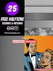 Free Halftone Textures and Patterns
