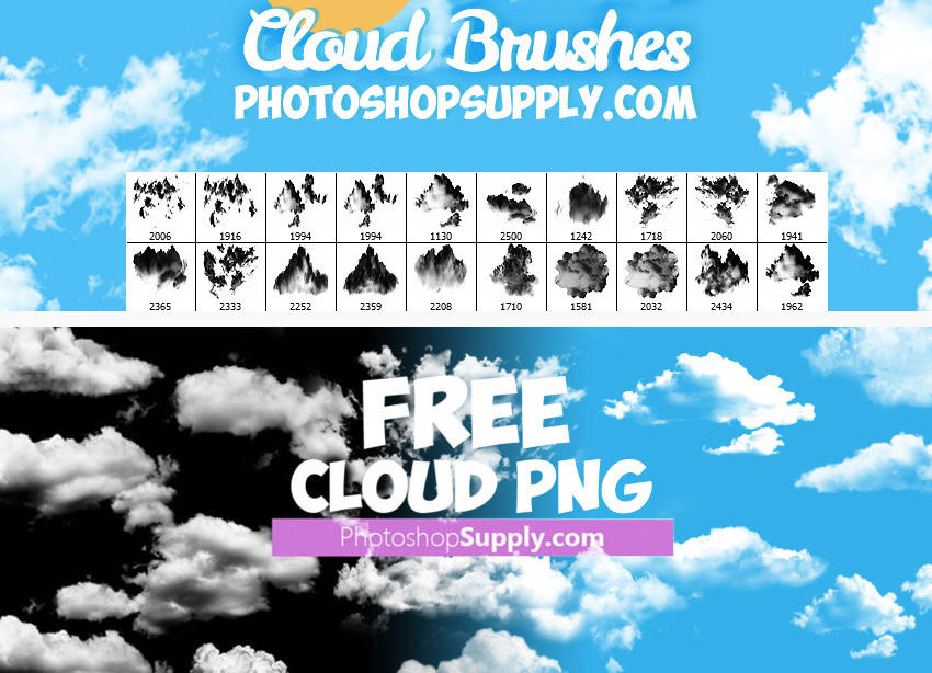 Cloud-brushes-free