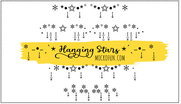 Hanging Stars Copy And Paste