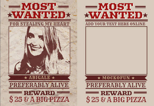 Wanted Poster Printable