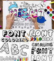 Coloring Book Fonts